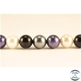 Perles d'imitation - Rondes/6 mm - Multicolore - Grade AB