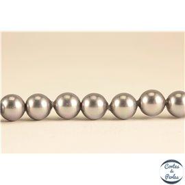Perles de Majorque - Ronde/ Ø 6 mm - Gris - Grade A