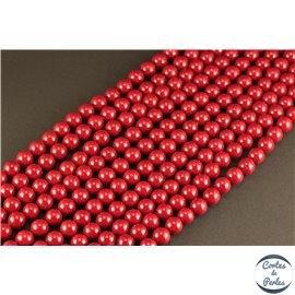Perles de Majorque - Ronde/ Ø 8 mm - Rouge - Grade A