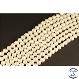 Perles de Majorque - Ronde/ Ø 8 mm - Blanc - Grade A