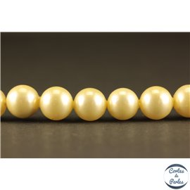 Perles de Majorque - Ronde/ Ø 8 mm - Jaune - Grade A