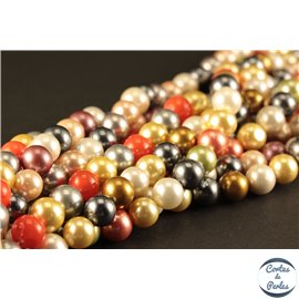 Perles d'imitation - Rondes/8 mm - Multicolore - Grade AB