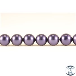 Perles d'imitation - Rondes/8 mm - Bleu - Grade A