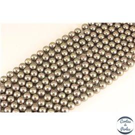 Perles de Majorque - Ronde/ Ø 8 mm - Gris - Grade A