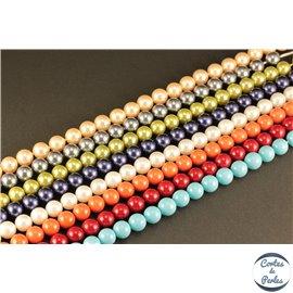 Perles d'imitation - Rondes/8 mm - Multicolore - Grade A