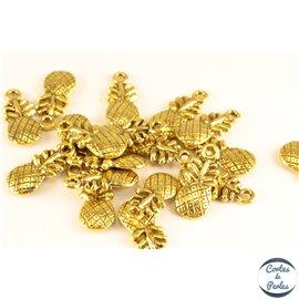 Lot de 20 Pendentifs en métal - Ananas/20 mm - Dorés