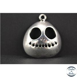 Pendentifs en métal - Crâne/32 mm - Argent