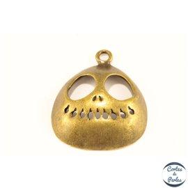 Pendentifs en métal - Crâne/32 mm - Bronze