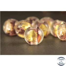 Perles en verre - Rondes/10 mm - Pourpres