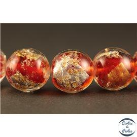 Perles en verre - Rondes/12 mm - Rouges