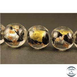 Perles en verre - Rondes/12 mm - Noires