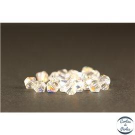 Perles en verre de bohème - Toupies/4mm - Transparentes