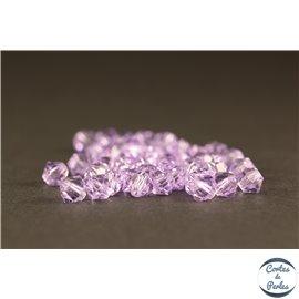 Perles en verre de bohème - Toupies/4mm - Violettes