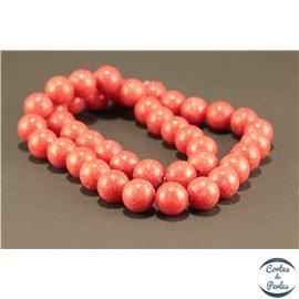 Perles semi précieuses en marbre - Rondes/10 mm - Fire brick