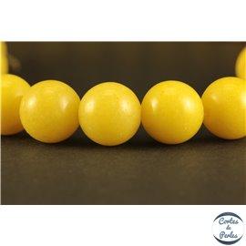 Perles semi précieuses en marbre - Rondes/10 mm - Jaune canari