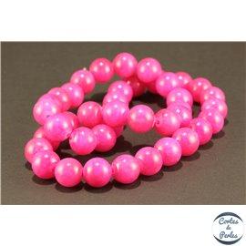 Perles semi précieuses en marbre - Rondes/10 mm - Violine