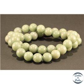 Perles semi précieuses en marbre - Rondes/10 mm - Kaki