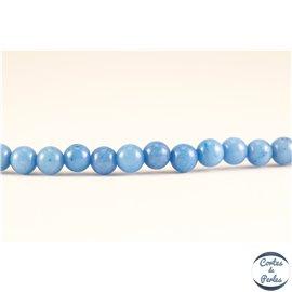 Perles semi précieuses en marbre - Rondes/4 mm - Bleu roi