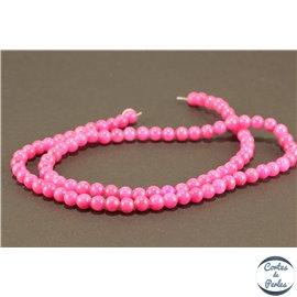 Perles semi précieuses en jade mashan - Rondes/4 mm - Violine