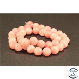 Perles semi précieuses en marbre - Rondes/10 mm - Rose