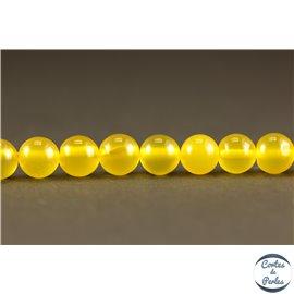 Perles en agate jaune canari - Rondes/6mm