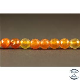 Perles semi précieuses en agate - Rondes/6 mm - Rouge orangé