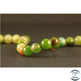 Perles semi précieuses en agate - Rondes/6 mm - Lime green