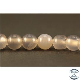 Perles semi précieuses en Agate - Rondes/6 mm - Gris Smoke