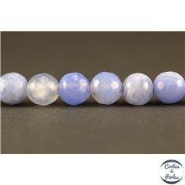 Perles en agate light blue - Rondes/6mm
