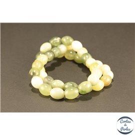 Perles semi précieuses en butter jade - Ovales/8 mm