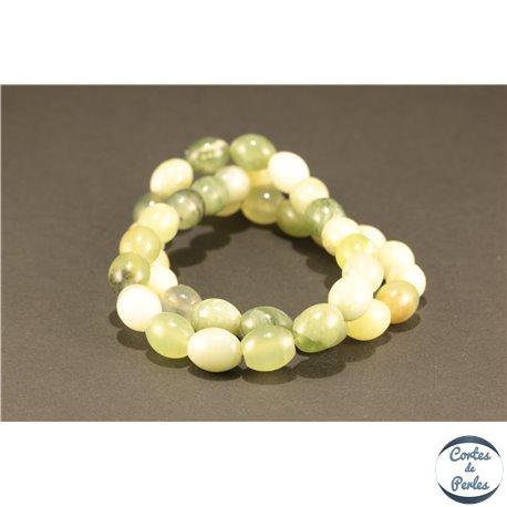 Perles semi précieuses en Jade - Ovale/8 mm - Butter Jade