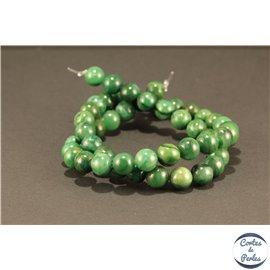 Perles semi précieuses en jade west africa - Rondes/8 mm