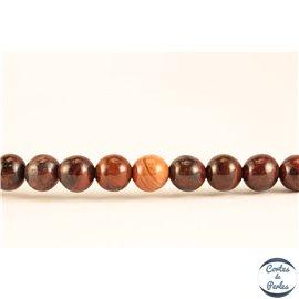 Perles semi précieuses en jaspe breschia - Rondes/4 mm - Maroon
