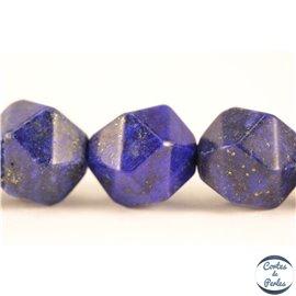 Perles semi précieuses en lapis lazuli - Pépites/8 mm