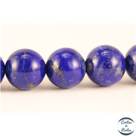 Perles semi précieuses en lapis lazuli - Rondes/7 mm