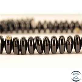 Perles en agate noire - Disques/11mm