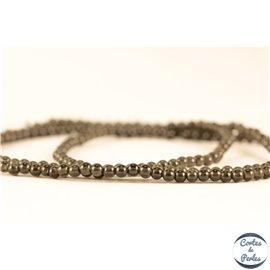 Perles semi précieuses en obsidienne - Rondes/2 mm