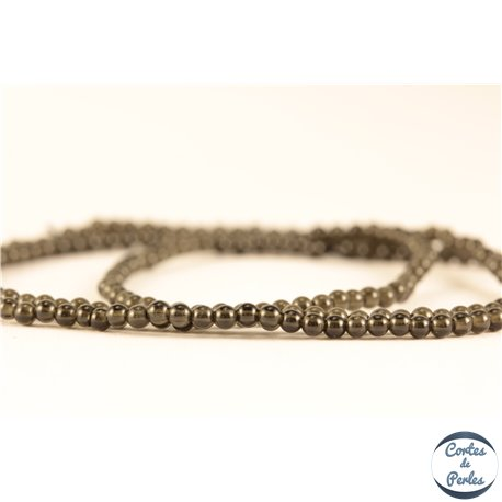 Perles semi précieuses en Obsidienne - Ronde/2 mm