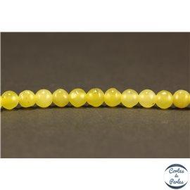 Perles semi précieuses en péridot - Rondes/3,5 mm
