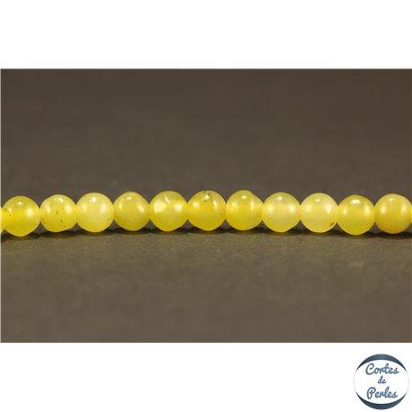 Perles semi précieuses en Péridot - Ronde/4 mm