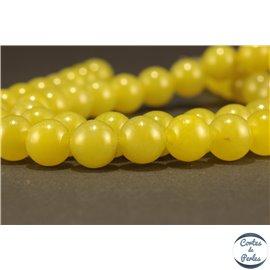 Perles semi précieuses en péridot - Rondes/8 mm