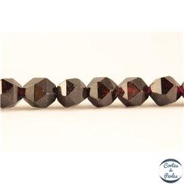 Perles semi précieuses en grenat - Pépites/6 mm