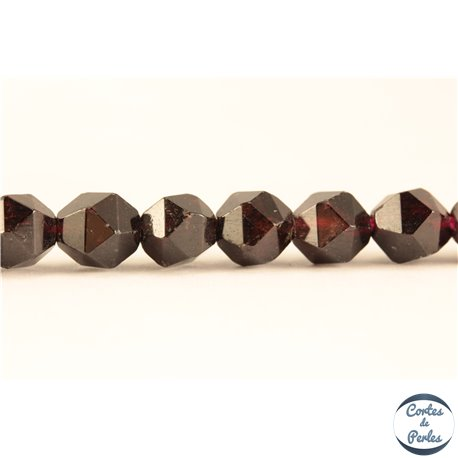 Perles semi précieuses en Grenat - Pépite/6 mm