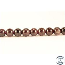 Perles semi précieuses en grenat - Rondes/4 mm