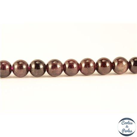 Perles semi précieuses en Grenat - Ronde/4 mm
