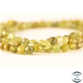 Perles semi précieuses en grenat vert - Rondes/3 mm