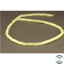Perles semi précieuses en serpentine bowenite - Tubes/5 mm - Vert pâle