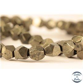 Perles semi précieuses en Pyrite - Pépite/5-6 mm