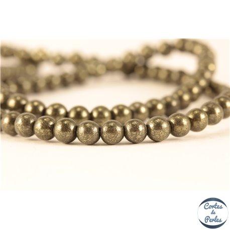 Perles semi précieuses en Pyrite - Ronde/4 mm