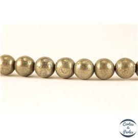 Perles en pyrite - Rondes/6mm - Grade AB